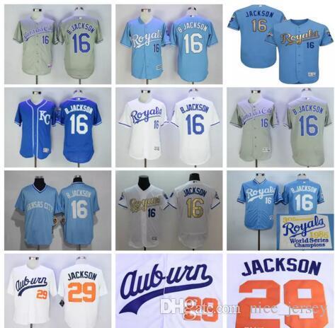 0501adf29e8 ... discount jersey 2017 kansas city royals 16 bo jackson throwback kc  baseball light blue 1985 1987