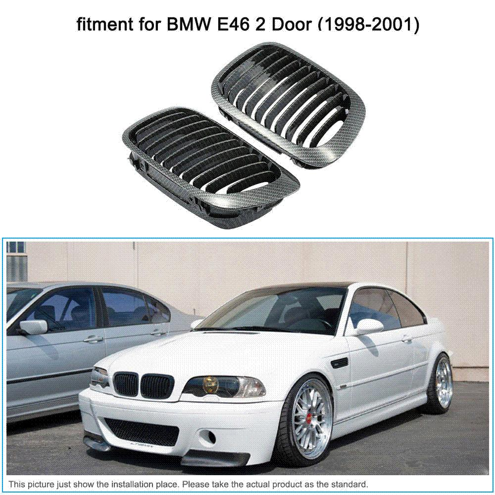 Auto Replacement Parts Carbon Fiber Car Front Grille Racing Grills For Bmw E46 2 Door 1998 2001