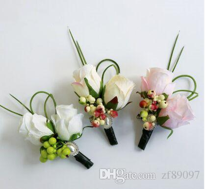 2018 luxurious groom boutonniere corsage flower brooch artificial 2018 luxurious groom boutonniere corsage flower brooch artificial flower corsage wedding groom flower corsage rose decorative products from zf89097 mightylinksfo