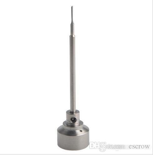 универсальный 14mm18mm 2 в 1 титановый карбюратор крышка с плоским dabber на вершине с 1 угловой отверстие, двойной боковой винт настоящее кремния банку!