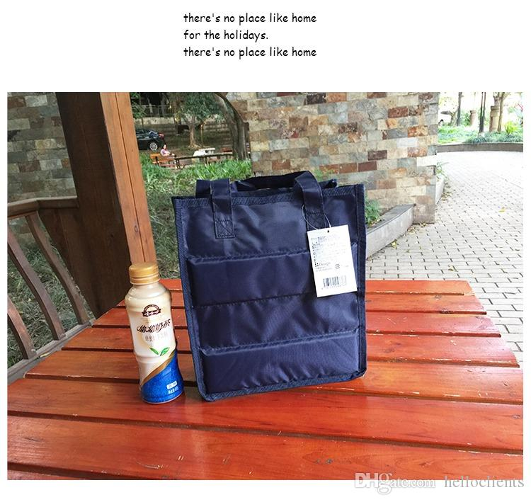 8 Photos Hot sellingEurope and South Korea Practical Small Portable bento lunch cooler bag with zipper Leisure Picnic Packet