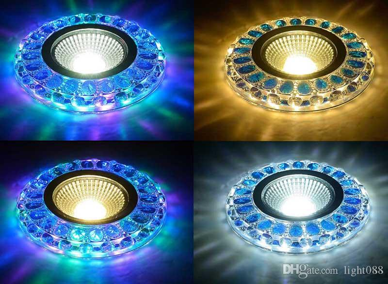 Downlight Led Cob Recessed Lights Blue Crystal 3w 2w 220v Water Cube Bedroom Foyer Ceiling Lamp Multicolor Warm White Fixture Kitchen Downlights