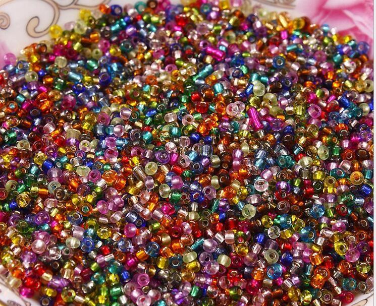 Nouvelle livraison gratuite en vrac 2/3 / 4mm tchèque semelle en verre Spacer perles beaucoup de couleurs pour la fabrication de bijoux artisanat bricolage