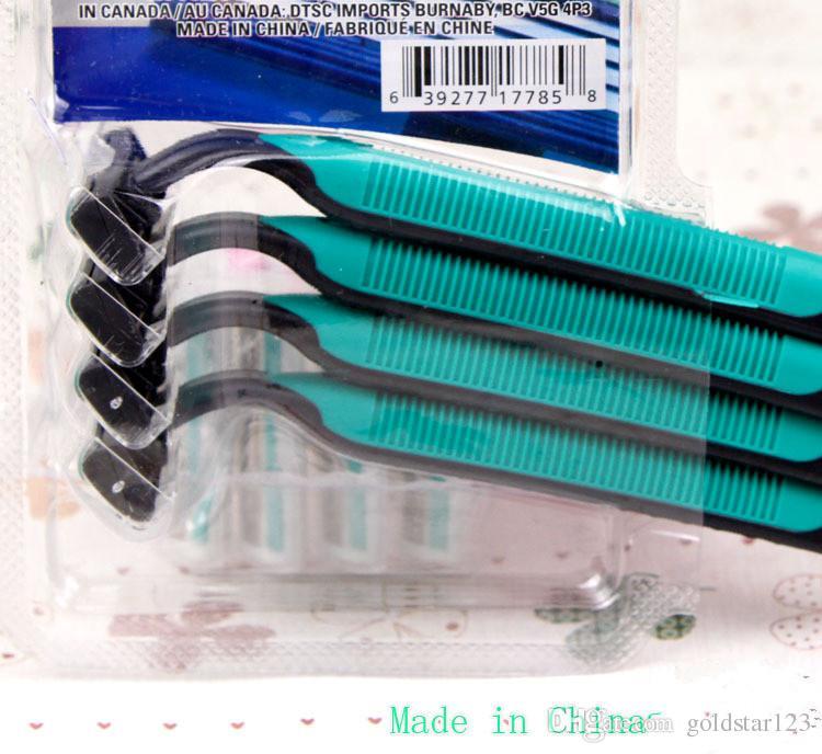 New Ms. armpit hair shaving knife / multi-purpose shaving machine, pink 4 Pack /male razor green shaving knife 3 Blade System