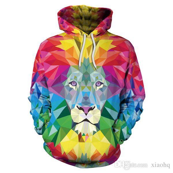 1945e03e8be4 2019 2018 New Fashion Men/Women Animals 3D Print Hoodies Long Sleeve Sweatshirt  Hoody Sweatshirt Unisex Pullover With Big Pockets Tops From Xiaohq, ...