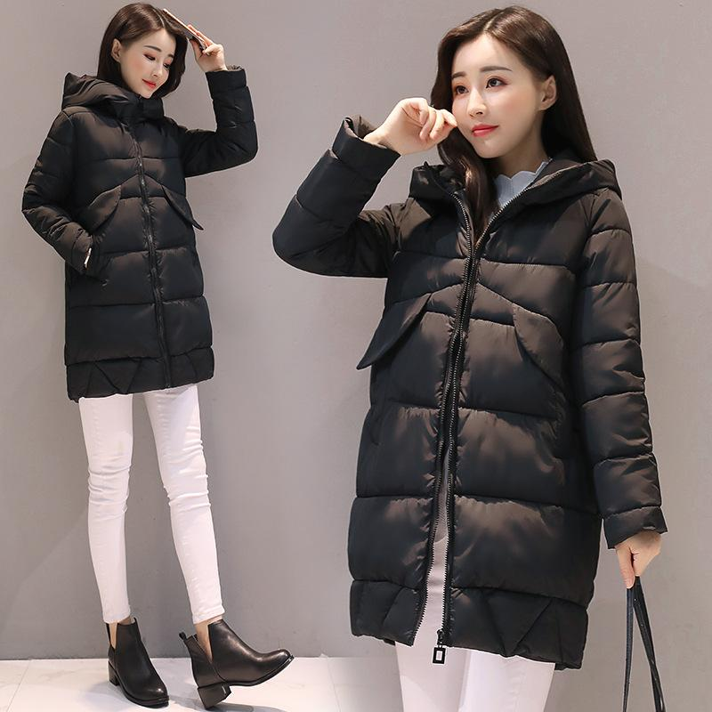 f92106677d3 2019 2017 New Winter Coat Women Fashion Warm Down Coat Long Down Jacket 5  Colours Plus Size Cotton Padded Jacket Slim Korean Thickening From Peisi