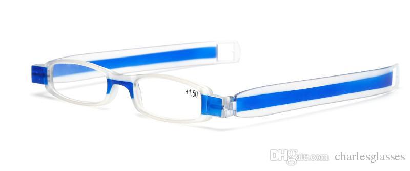 Dobrável óculos de leitura / óculos coloridos presbiopia / moda plástico óculos de leitura