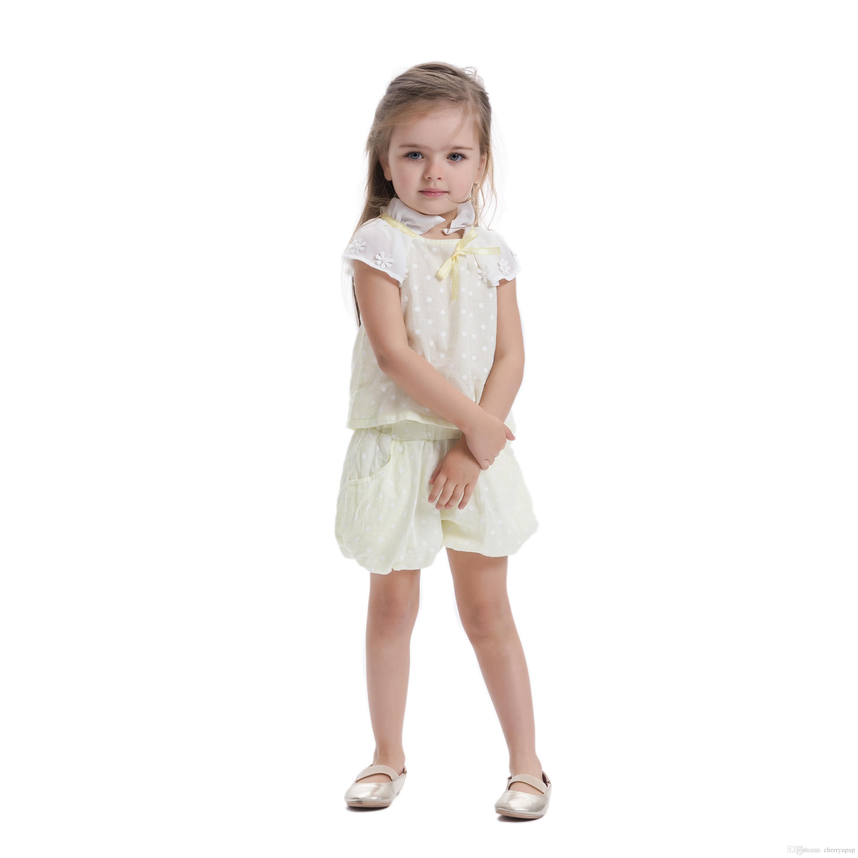 2018 Cute Baby Girls Shirts Floral Dress Girls Fashion Summer
