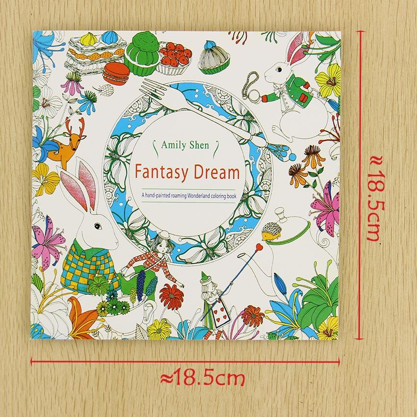 School Office Book Fantasy Dreams 24 Pages Hand Painted Graffiti Coloring Books Of The Relieve Stress Painting Colour Printing Activity