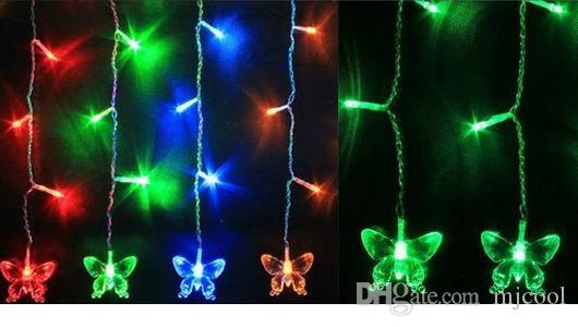3 M * 1 M 150 LED Faixa de Cordas Guirlandas de Luz de Natal Do Feriado 20 Luzes de Cortina de borboleta DA UE EUA REINO UNIDO AU Plug PARTY Lâmpada Do Casamento