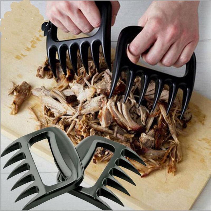 Ustensiles de cuisine Outils de barbecue Pattes d'ours Charnières pour la viande Fourchettes avec griffes Griffes de viande Griffes d'ours Porc Floss Maker