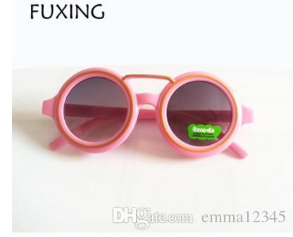 fdcd2b7a38 Compre Bebés Niños Niñas Niños Gafas De Sol Vintage Ronda Gafas De Sol UV  400 Niños Gafas De Sol Oculos De Sol Lunette De Soleil A $1.73 Del  Emma12345 ...
