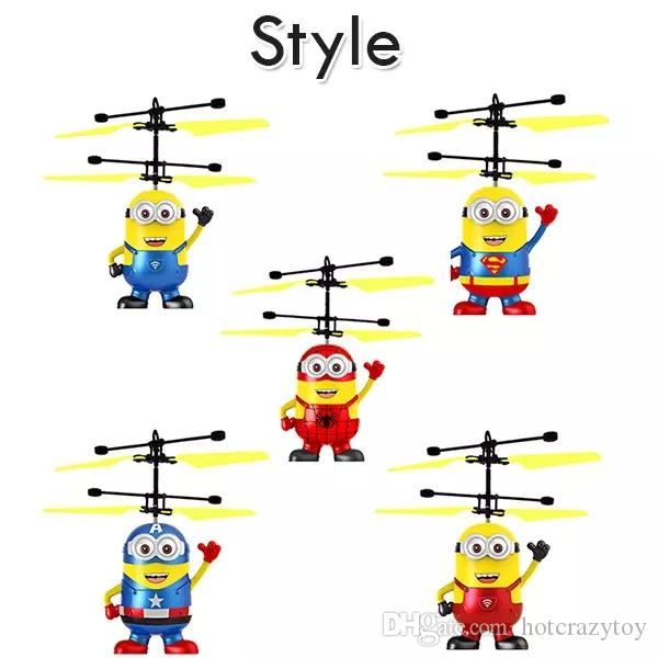 Minions Helicopter RC Flying Toys Drone Indication Helicopter Built In Cartoon Minions Helicopter very lovely gift For Kids/Adults