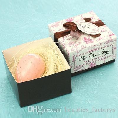 Свадебные сувениры гнездо яйцо мыло подарочная коробка дешевые практический уникальный свадьба ванна мыла небольшие сувениры 20 шт. / лот новый
