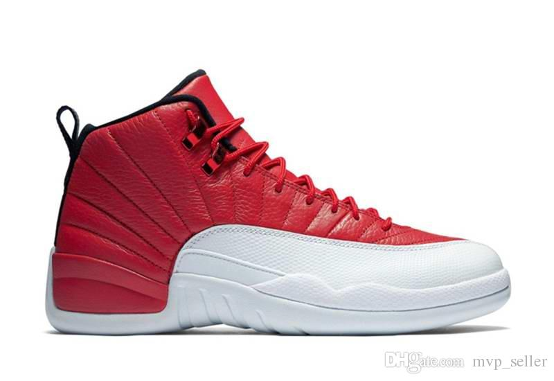 New 12 mens womens basketball shoes taxi ovo white wolf grey cherry Flu game French Blue The master Barons Gym Red sneakers