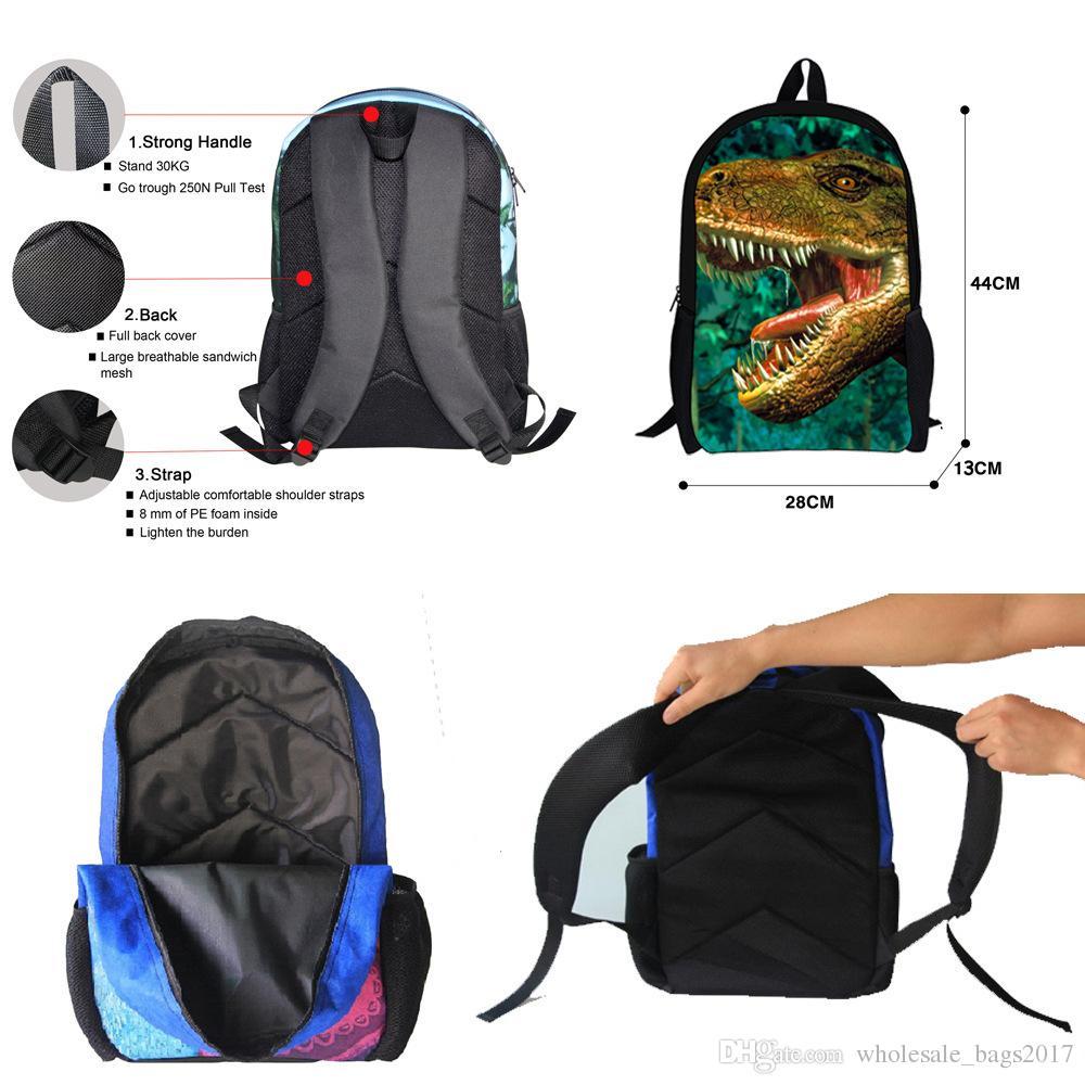 Cool Children 3D Animal School Bags Men's Backpack Crazy Tiger Bear Printing Bag for School Girls College Student Rucksack Bookbags