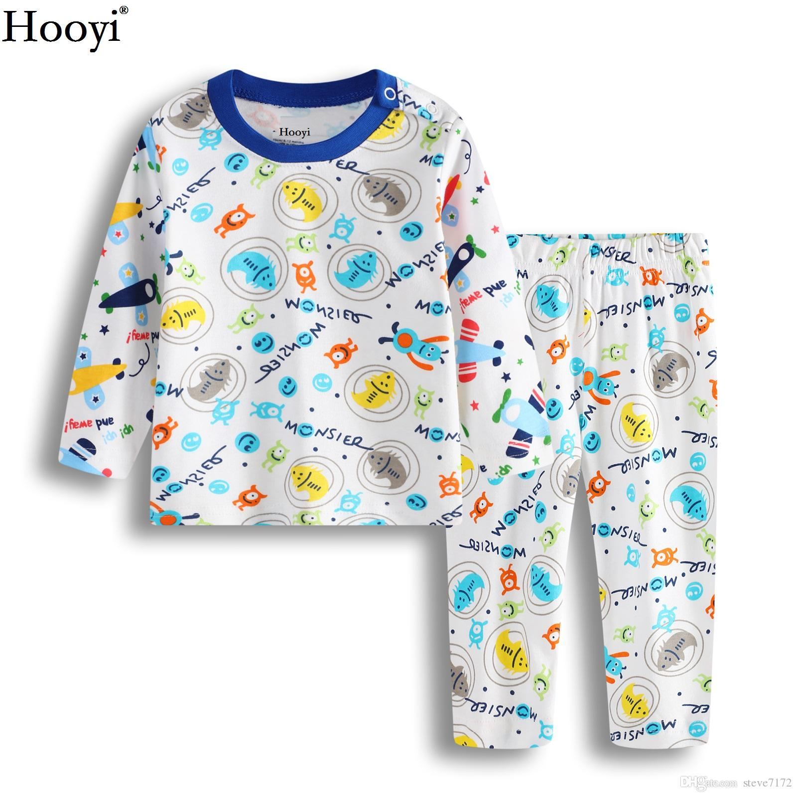 00efdf3da Hooyi Baby Boys Pajamas Clothes Set Insert Children Clothing Sets ...