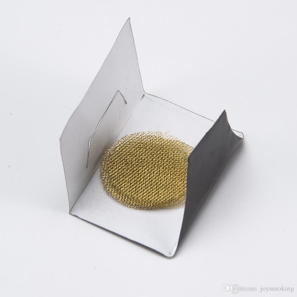 Tela de bronze Acessórios fumadores aço inoxidável telas de tubos de prata / bronze dourado cachimbo de metal Promoção da tubulação