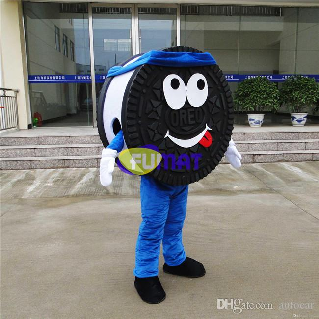 FUMAT Cookie Lovely Garment Festive Costume della mascotte Abbigliamento Costume Dessert Panno di cartone animato Simpatico biscotto mascotte con ventaglio Personalizzazione dell'immagine
