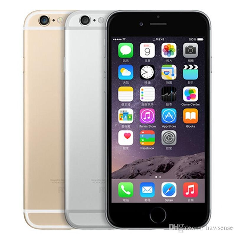 Remis à neuf Original Apple iPhone 6 Débloqué 4.7 pouces Retina Screen 16 Go 64 Go ROM IOS 9 Dual Core 8,0MP Appareil photo 1080P LTE 4G DHP gratuit 1pcs
