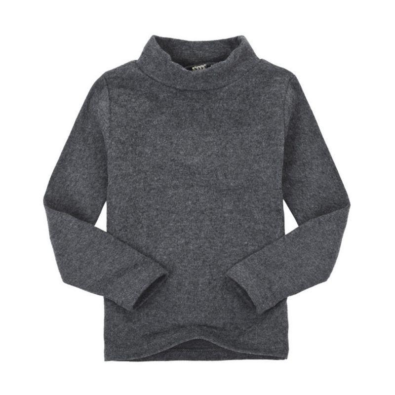 Camiseta de manga larga de algodón para niños de invierno para bebés, niños y niñas Camiseta de manga larga con cuello alto y camisa de tocar fondo