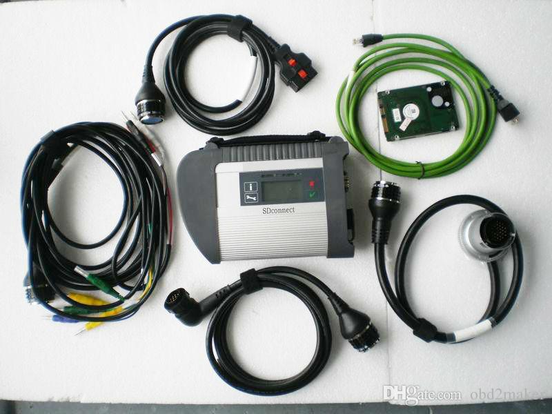 O SD C4 de V2017.12 MB conecta o diagnóstico compacto da estrela de C4 Xentry DAS para os apoios dos carros e dos caminhões WIN7