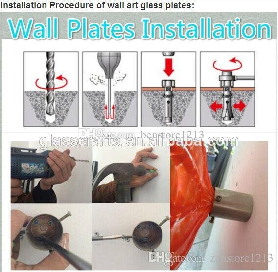 Wall Decor Glass Plates Custom Made Modern Art Deco Blown Murano Glass Wall Art Plates for Home Hotel Decor
