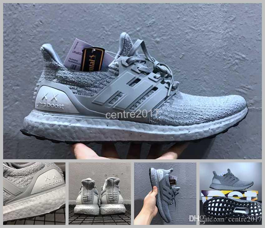 69ee92778ff 2017 Newest Kaws X Ultra BOOST 3.0 BA8144 Triple Grey White Running Shoes  Mens Real Boost XX Ultra Boosts Sneakers 39 45 Carmelo Anthony Shoes  Basketball ...