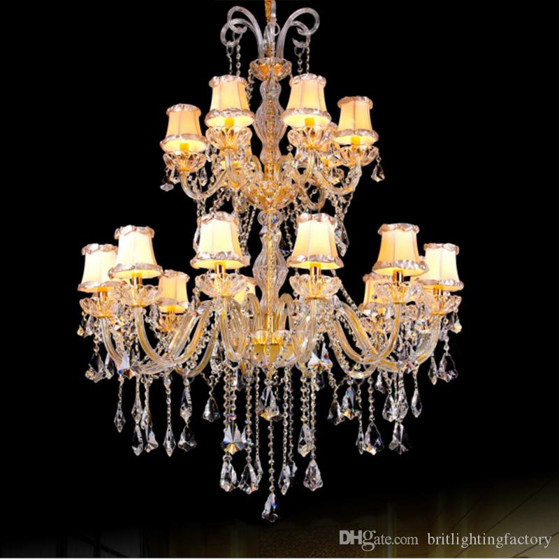 Modern crystal fabric shade chandelier luxury crystal and fabric modern crystal fabric shade chandelier luxury crystal and fabric chandelier for hotel saloon led contemporary living room gold chandelier bedroom chandelier aloadofball Gallery
