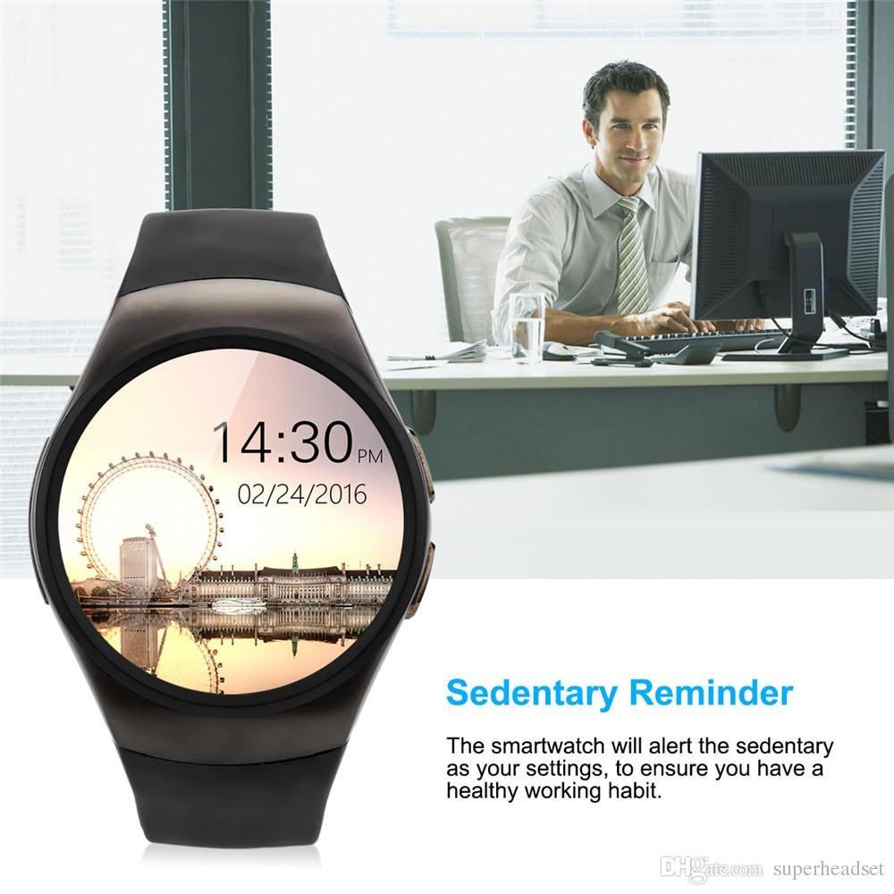 KW18 смарт-часы поддержка монитор сердечного ритма SIM-карты сообщение Push Bluetooth Smartwatch спортивные часы для Android IOS