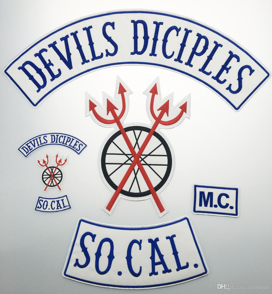 "Full BACK LARGE SIZE DEVILS SICIPLES SETS Motorcycle Biker Patch IRON ON SEW ON JACKET VEST 18"" PATCH"