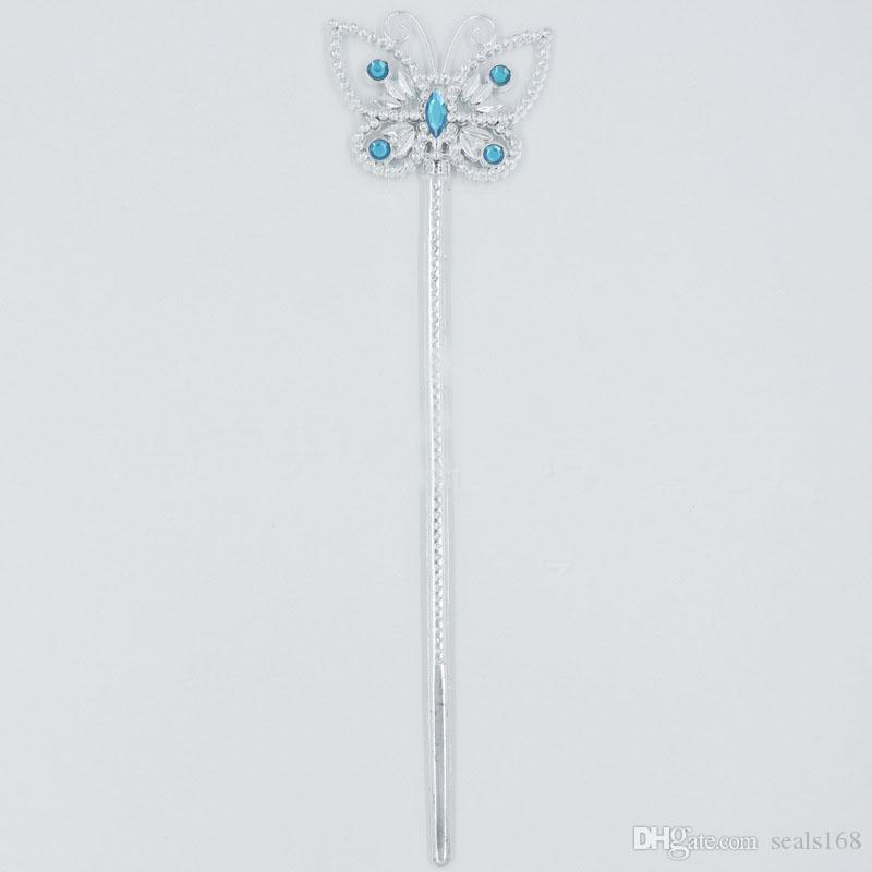 New Girls Cinderella Accessories Sets Princess Dress Up Party Suits Crown+Butterfly Magic Wand+ Necklace XMAS Costume Tiaras Gifts HH7-104