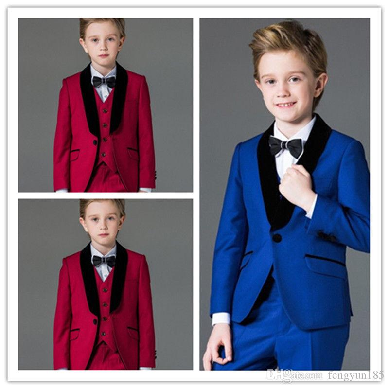 2018 Page Boy Flower Boys Wedding Suits Kids Groom Tuxedos ...