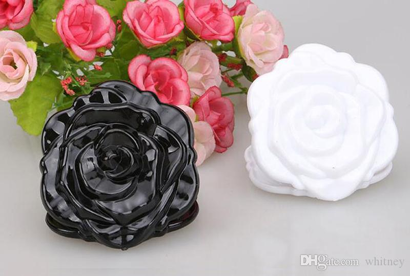 Schöne 3D-Rosenform Kompakter kosmetischer Spiegel Netter Mädchen-Makeup-Spiegel /