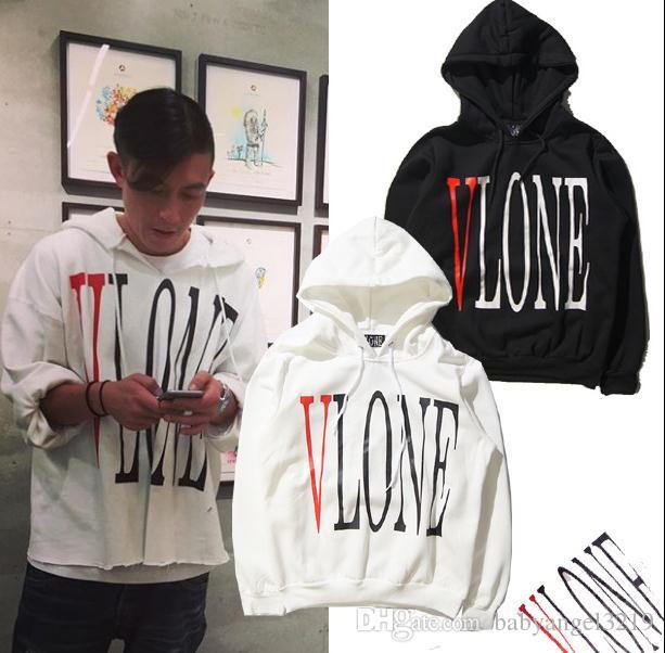 Social Club Social sweater Man 1: 1 con cappuccio da skateboard di alta qualità Kanye West V LONE danneggia il maglione in cotone con cappuccio più spesso