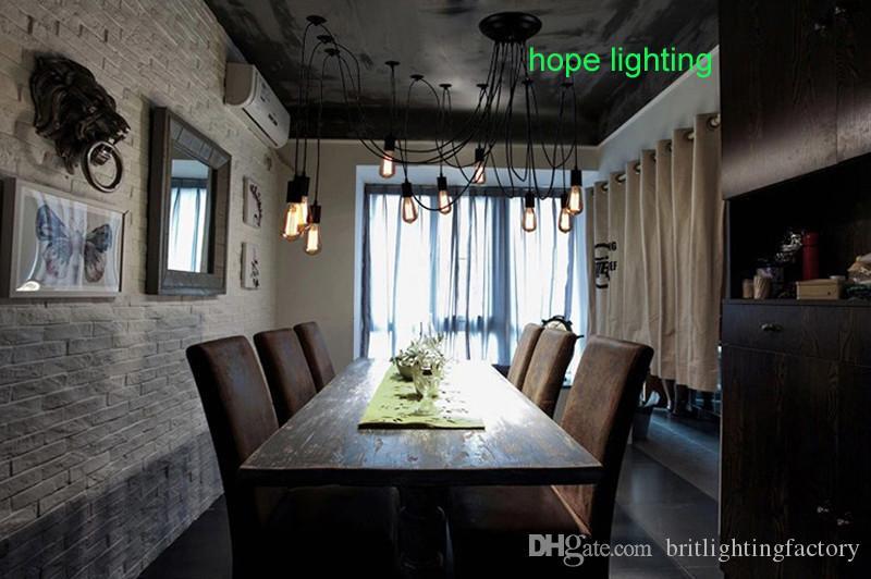 Großhandel Spinne Licht Decke Hängeleuchte Installation Bad Deckenleuchte  Spirale Deckenleuchte Wohnzimmer Bar Café Bekleidungsgeschäft Beleuchtung  ...