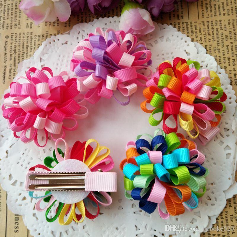 5Pcs Handmade Kids Girls Bowknot Hair Clips Barrette Hairpin Hair Accessories Ho