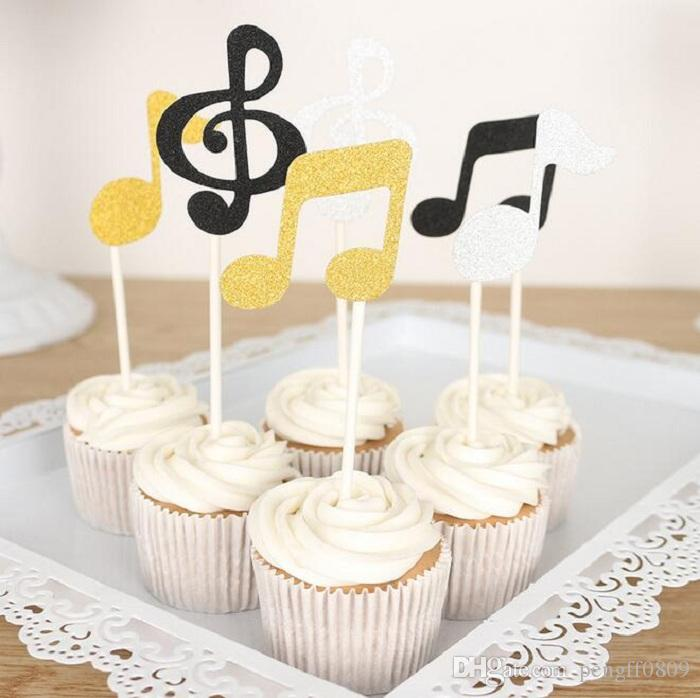 Cake toppers glitter music note paper banner for cupcake wrapper cake toppers glitter music note paper banner for cupcake wrapper baking cup birthday tea party wedding decoration baby shower confetti flowers party mightylinksfo