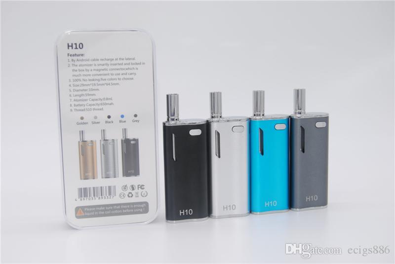 ASD-16 Hibron H10 Oil BUD Starter Kit 650mah Box Mod Gold Vape Pen Cartridges With Upgraded CE3 Atomizer Magnetic Ecig Bin Vaporizer