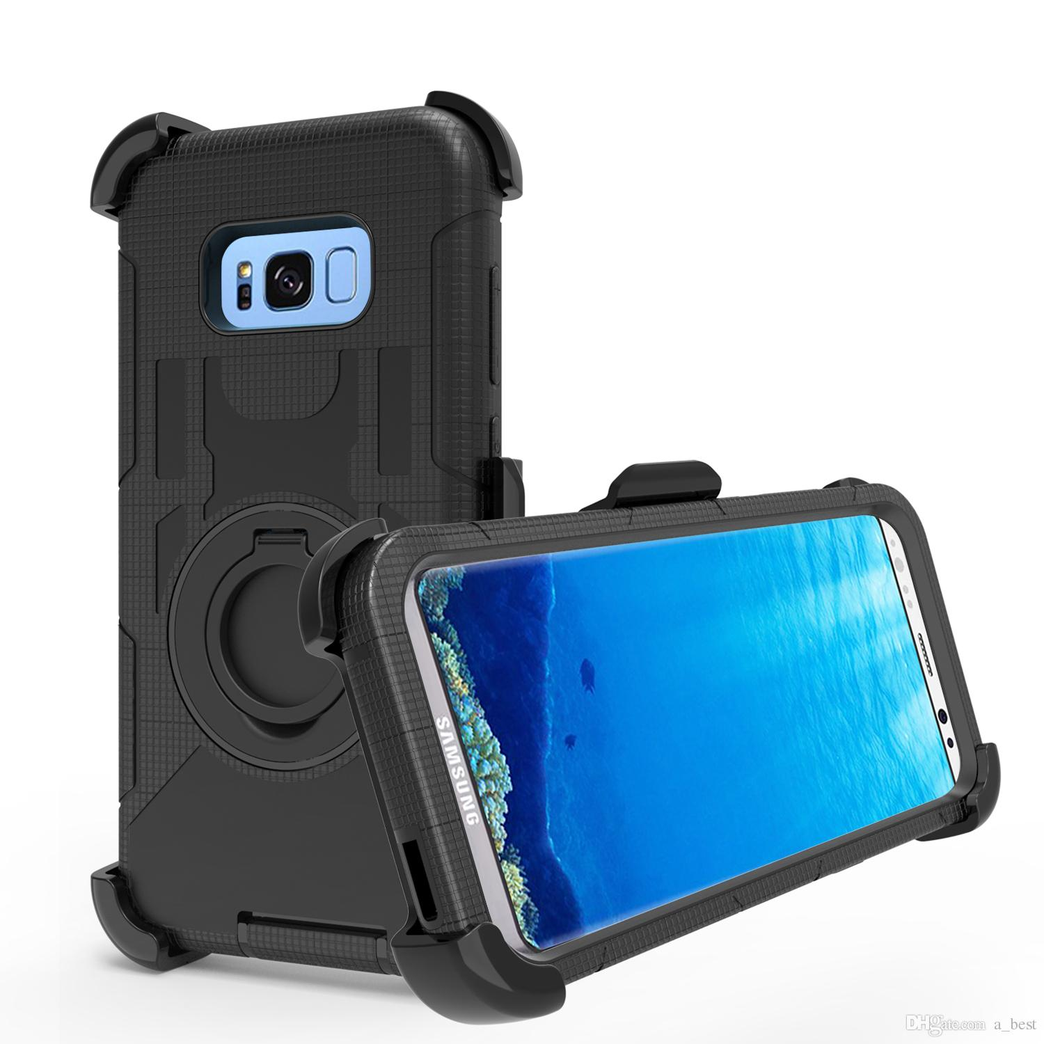 Cool For Samsung Galaxy S8/S8 Plus Rugged Armor Hard Case Mobile Phone  Hybrid Back Cover Shockproof Stand For Samsung Galaxy S8/S8 Plus Cases For  Cell ...