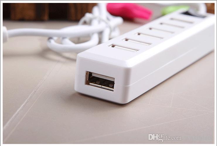 5 Gbps Ad alta velocità LED 7 porte USB 3.0 Hub Splitter Adattatore Porta di ricarica Interruttore elettronico PC portatile Computer USB Hub USB