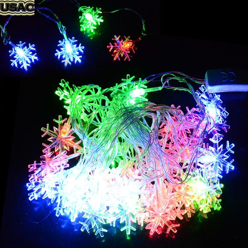 Wholesale 5m 28 Led Christmas Lights Snowflake Small Bell String Fairy Lights  Christmas Xmas Party Wedding Decoration Lights R50 Battery Operated String  ...