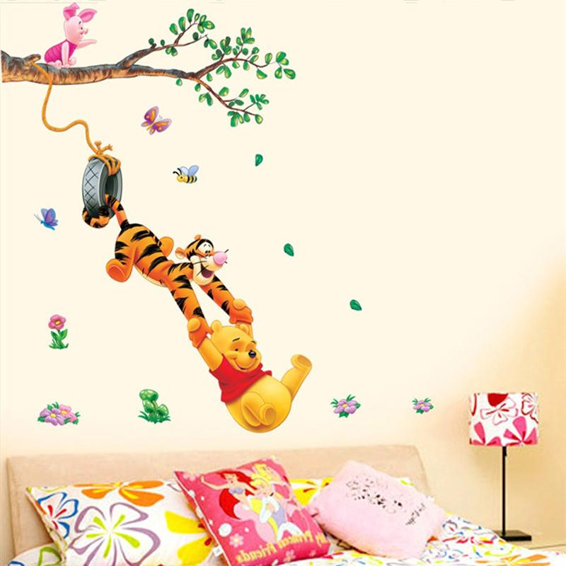 Beautiful Stickers For Walls For Kids Rooms Part   7: Pooh Tree Animal  Cartoon Vinyl Part 74