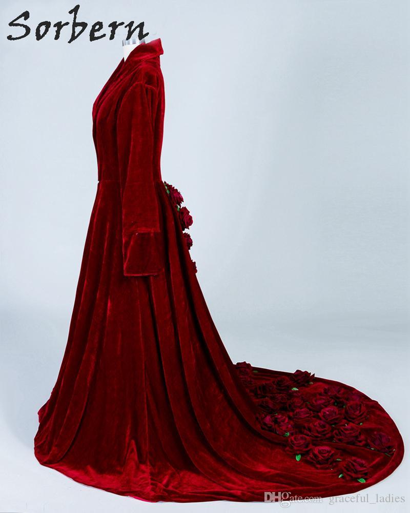 Lüks Kırmızı Gelin Pelerin Düğün Gül Çiçekler Için Büyük Boy Noel Pelerin Şapka Ile Özel Boyutlu Gelin Aksesuarları Kadife Gelin
