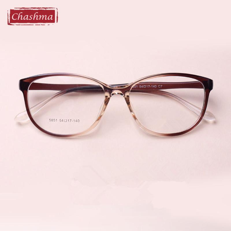 Wholesale- Chashma TR 90 Cat Eyes Black Brown Wine Red Eyeglasses ...