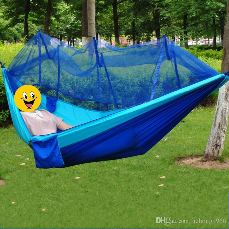 2018 outdoors travel double person parachute fabric cloth hammock camping mosquito   mosquito curtain bar hammocks portable type 50jz c from hehong1966     2018 outdoors travel double person parachute fabric cloth hammock      rh   dhgate