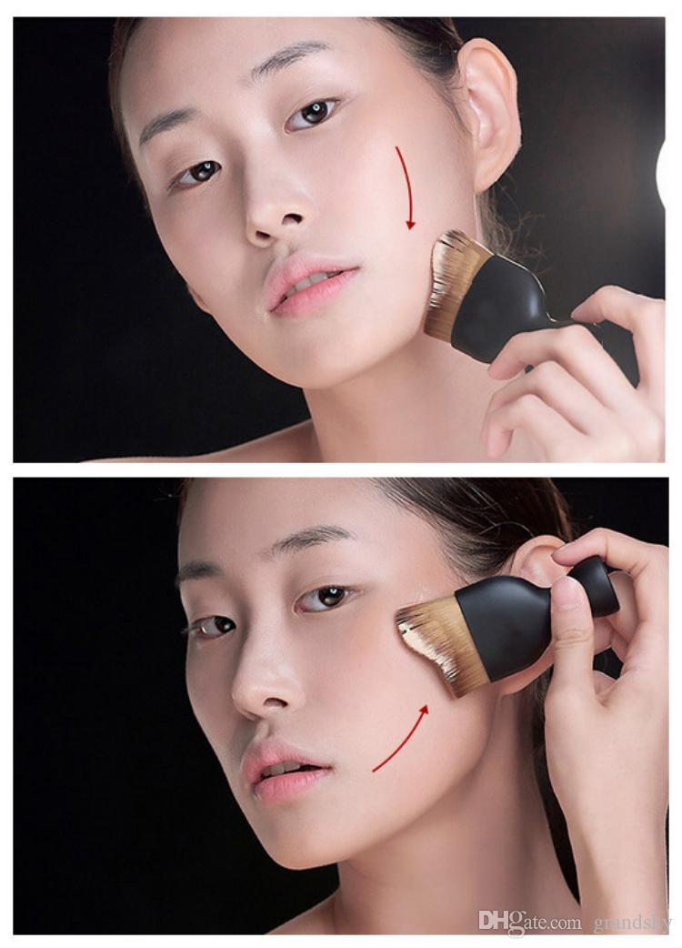 Espoir Contour Foundation Brush S Shape Cream Makeup Brushes Loose Powder Brush Multifunctional Make Up Brushes Curved Face Brush