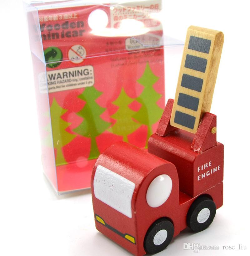 Mini wooden car/airplane Educational Soft Montessori wooden toys for children with gift box birthday present for boys XT