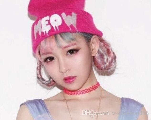 패션 빈티지 hippy 스트레칭 문신 초커 목걸이 탄성 라인 펑크 그런지 성명 목걸이 도매 여성을위한 보석