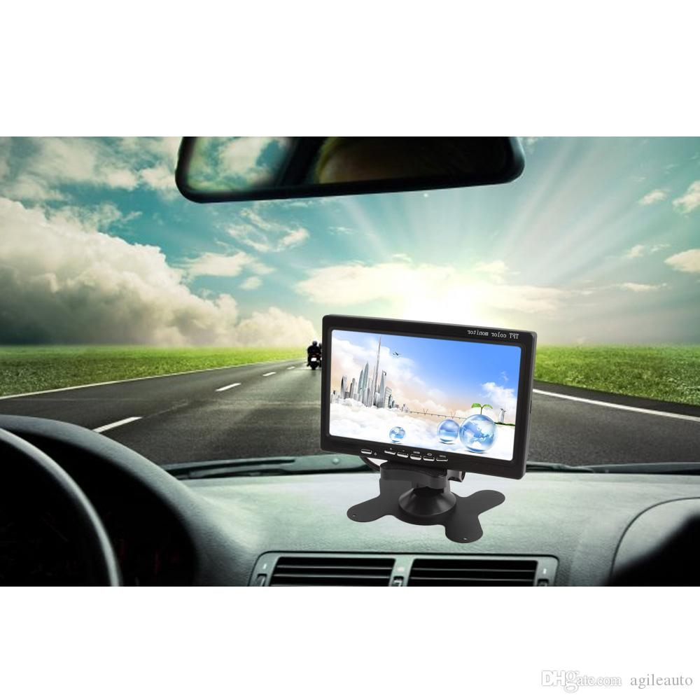 7 Inch HD TFT LCD Screen Car Rear View Monitor Auto Parking Backup Reverse Headrest Monitor CMO_30M